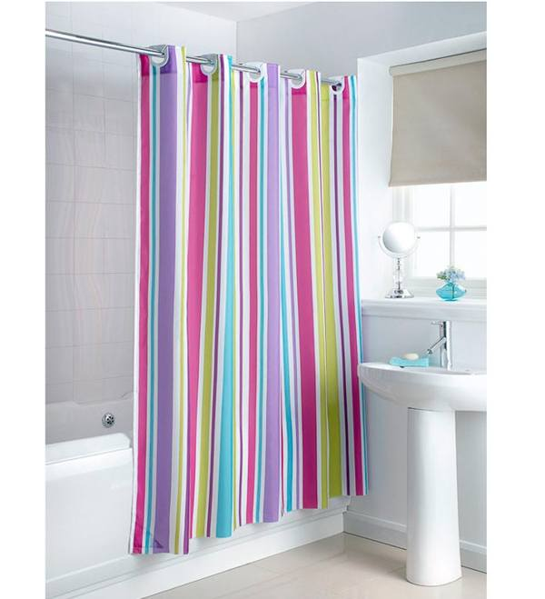Colorful Hookless Shower Curtain