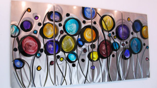 Colorful Meral Wall Art
