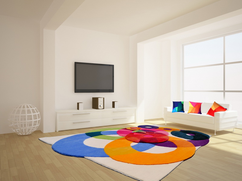 Colorful area rugs unique rugs for the living room - Tapis de salon moderne ...