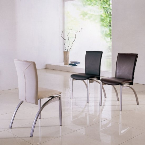 Contemporary Dining Chairs With Metal Legs