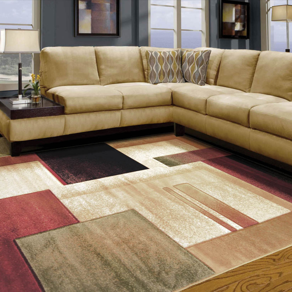 contemporary large area rugs for living