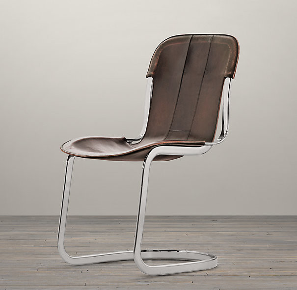 Contemporary Leather DIning Chairs Without Arm