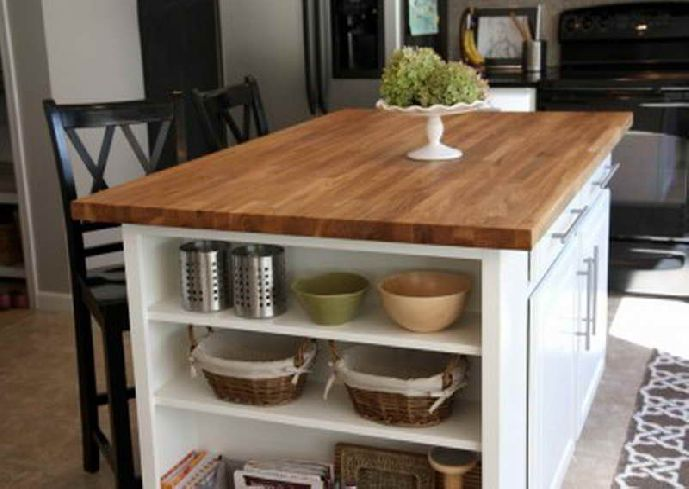 Kitchen island ideas how to make a great kitchen island for Simple diy kitchen ideas