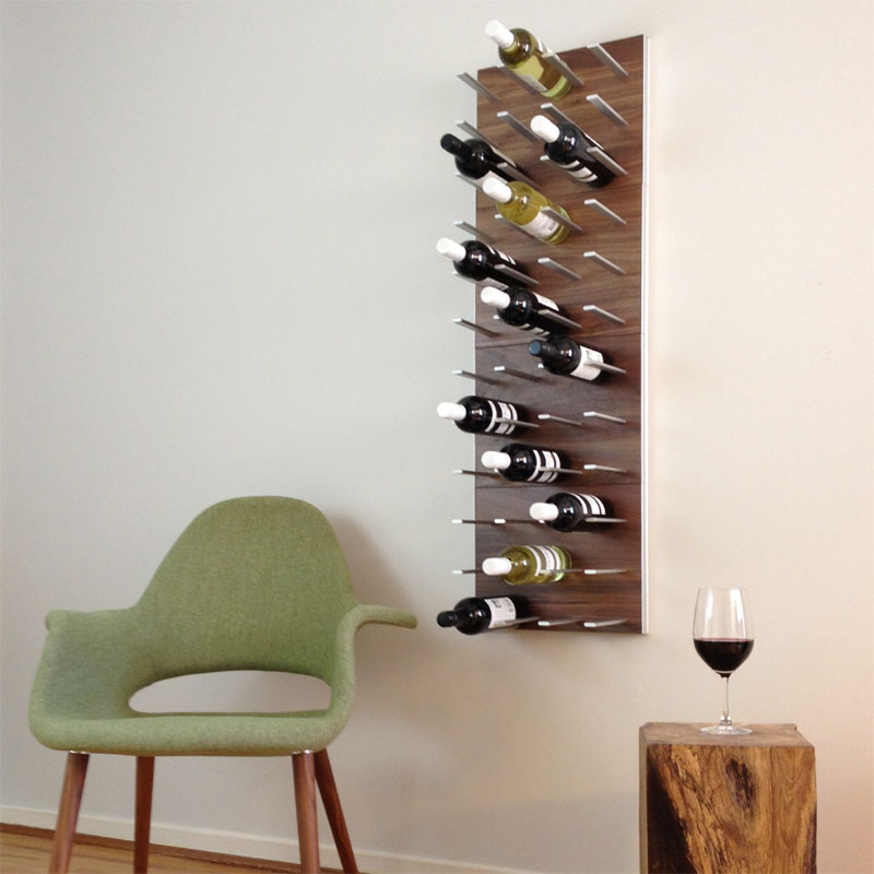 Decorative Walnut Wall Mounted WIne Racks