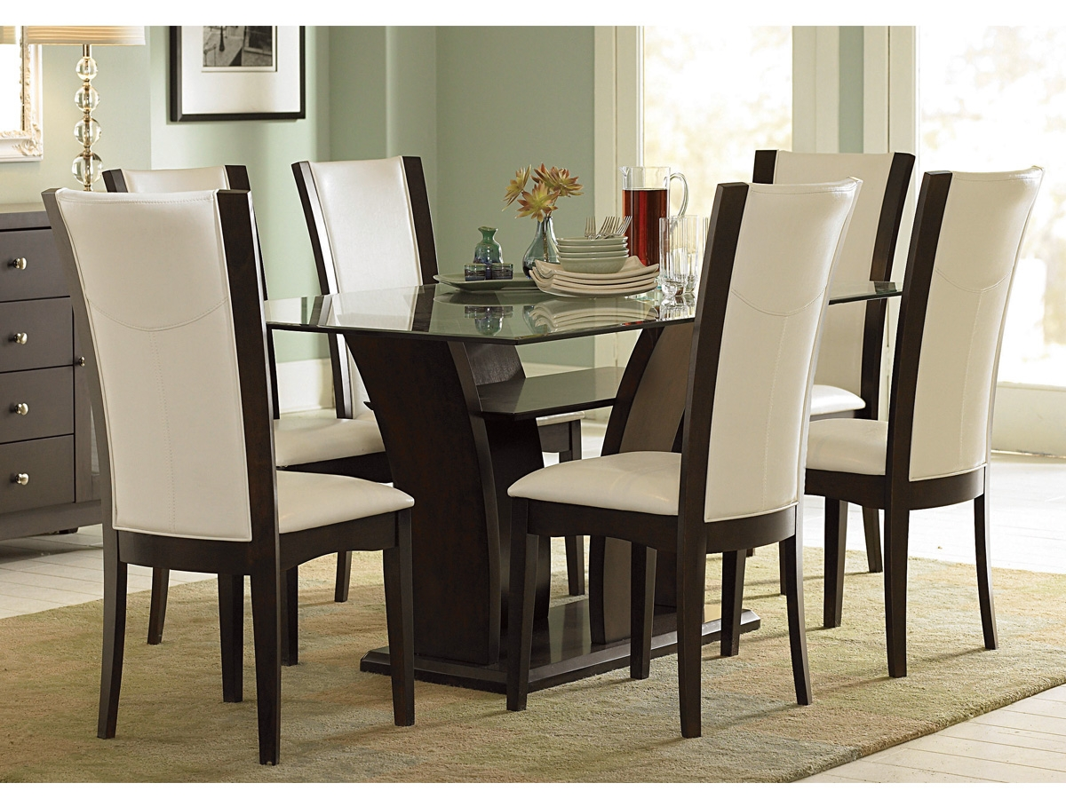stylish dining table sets for dining room » inoutinterior -  glass top dining table sets with  chairs