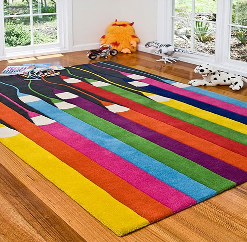 Colorful area rugs unique rugs for the living room for Kids carpet designs