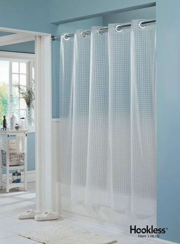 Hookless Vinyl Shower Curtains