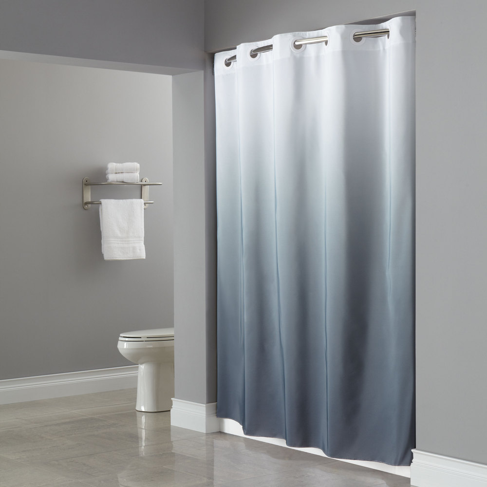 Hookless Shower Curtain Elegant Bathroom Furniture