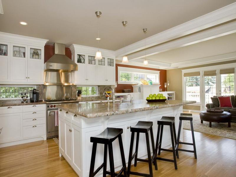 if your kitchen is really spacious that you island should be quite
