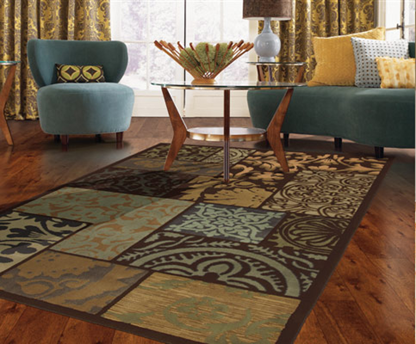 Colorful area rugs unique rugs for the living room - Decorating with area rugs ...