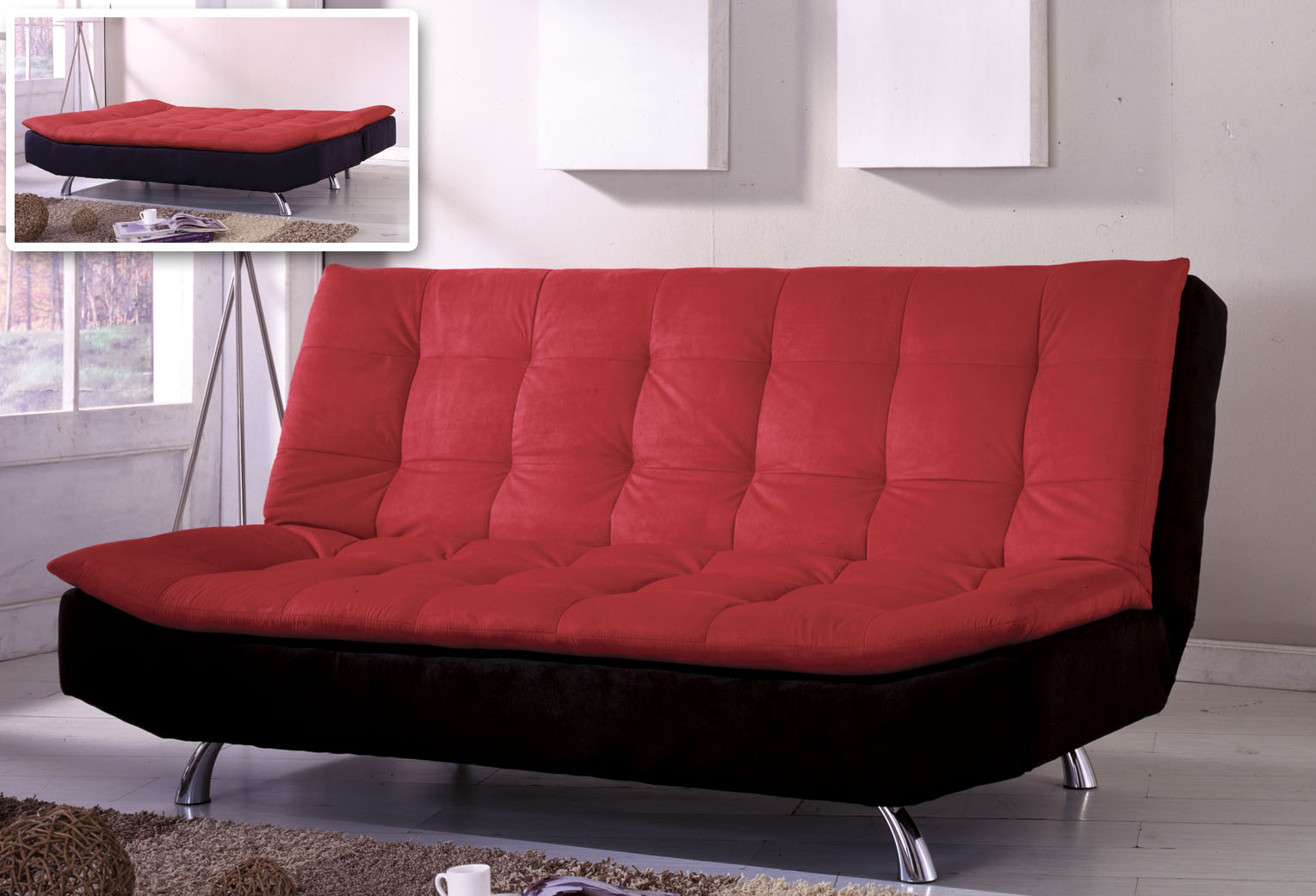 futon sofa bed sophisticated furniture inoutinterior. Black Bedroom Furniture Sets. Home Design Ideas