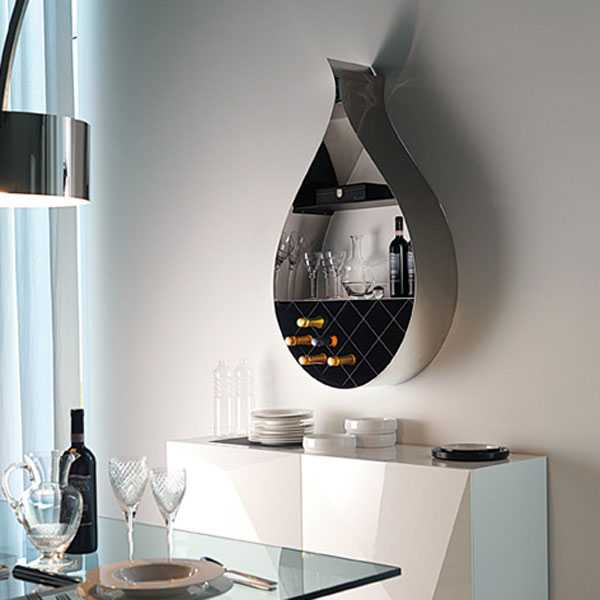 Modern Wall Mounted WIne Racks Metal Base