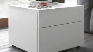 Modern White Bedside Table Espresso Design