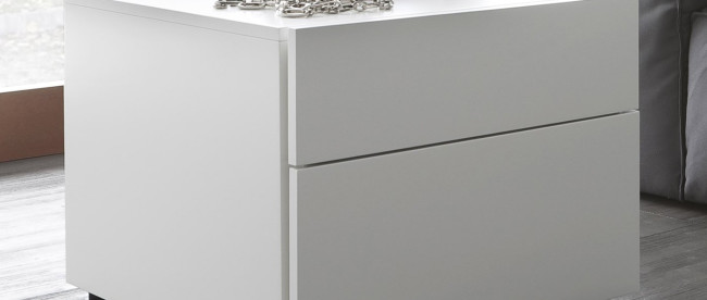 Modern White Bedside Table Espresso Design