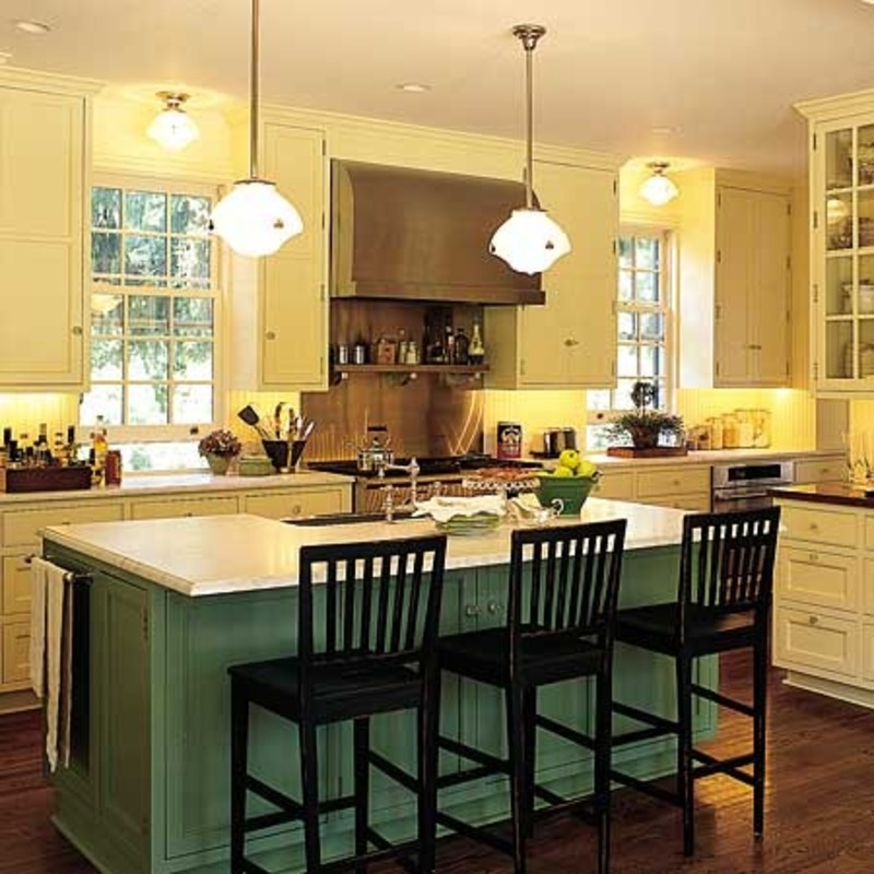 Kitchen Design Ideas Green Cabinets