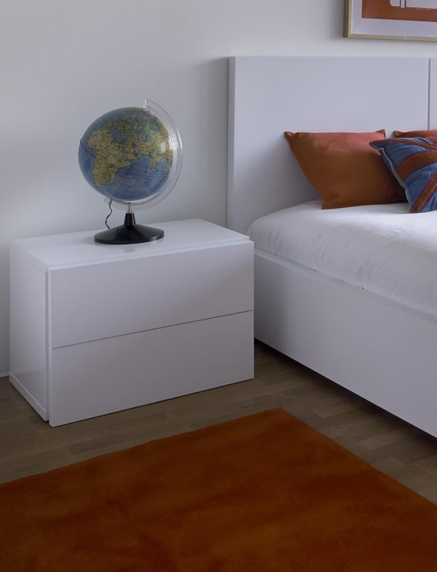 Modern White Bedside Table