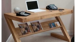 Solid Oak Small Narrow Computer Desk