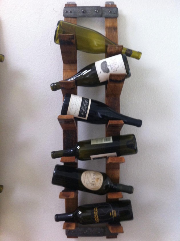 Unique DIY Wall Mounted Wine Racks Handmade Design