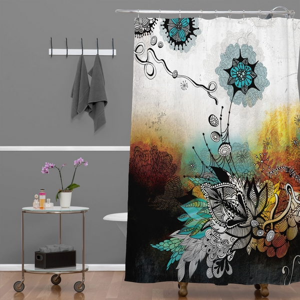 Unique Shower Curtains Floral Patterns