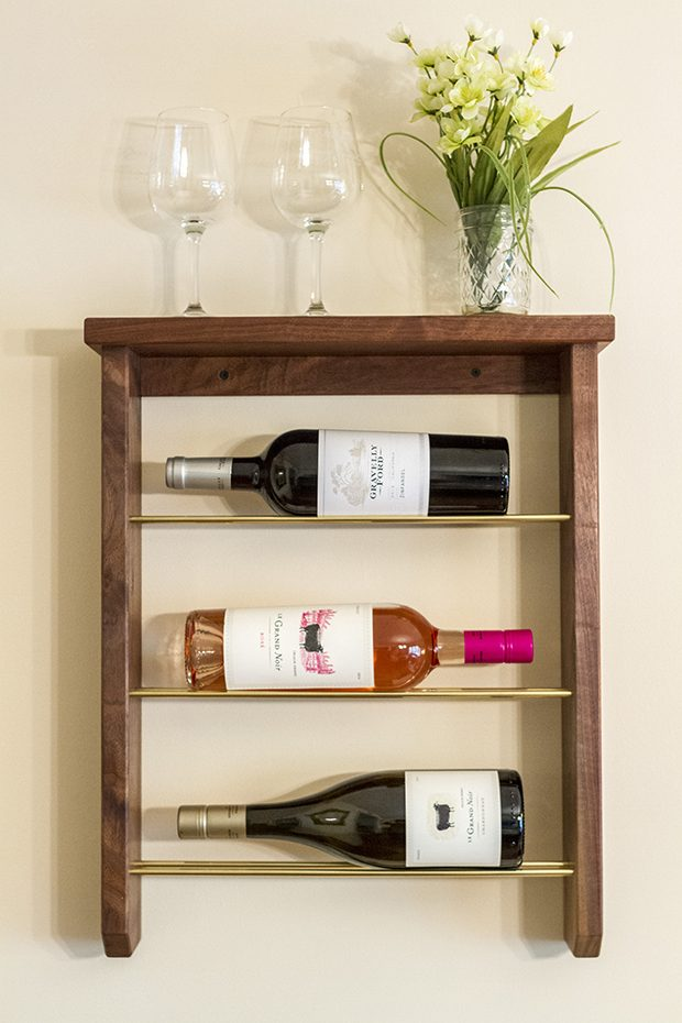 Wall Mounted Wine Glass Racks Reclaimed Wood