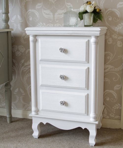 White Bedside Table » InOutInterior