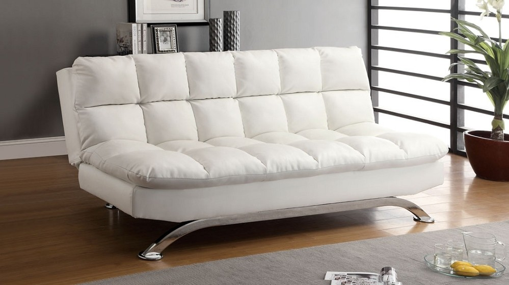 White Futon Sofa Bed Modern