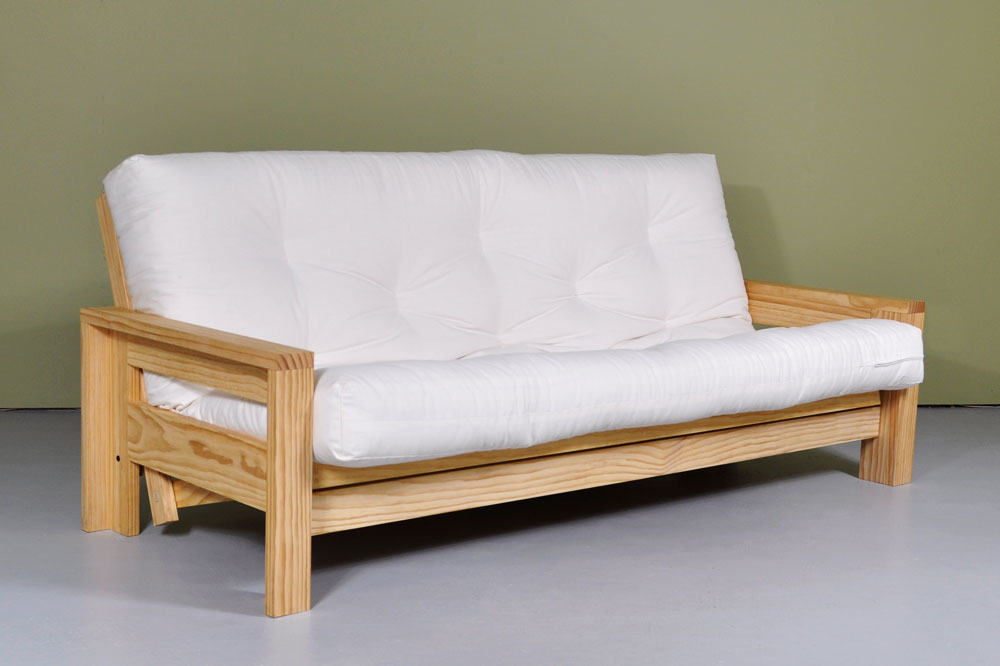 White Futon Sofa Bed ...