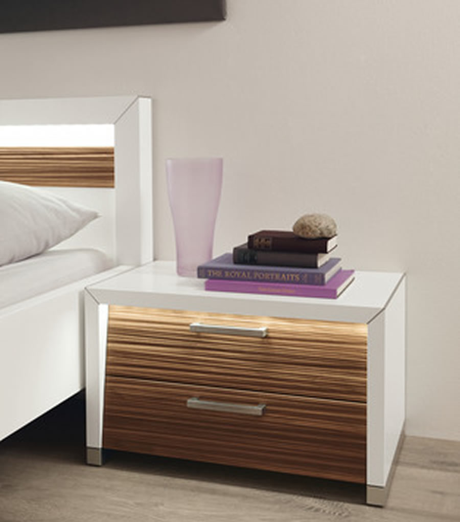 white bedside table made of real wood engineered wood instead