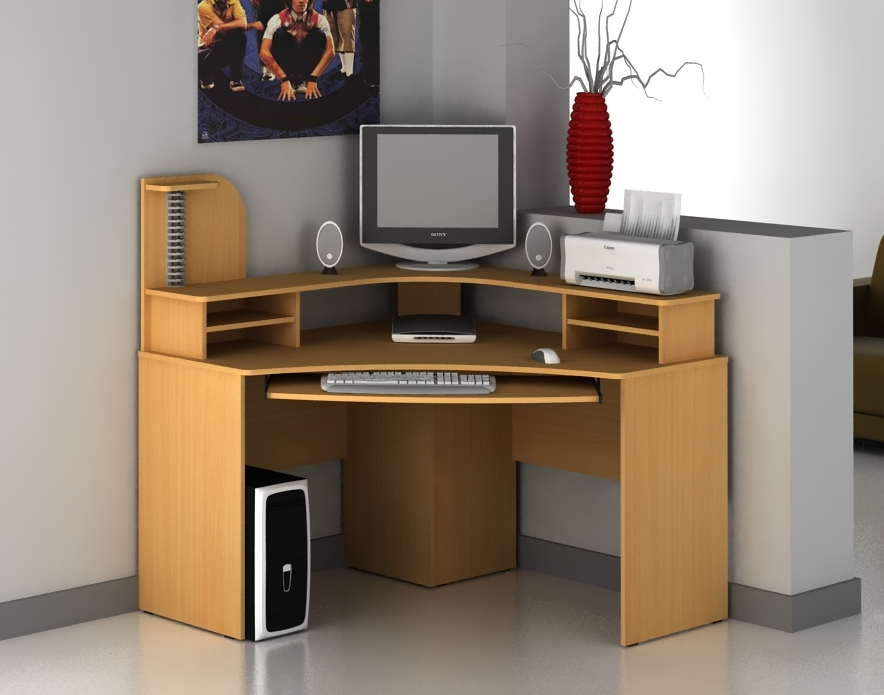 Wood Corner Computer Desk Simple Designs