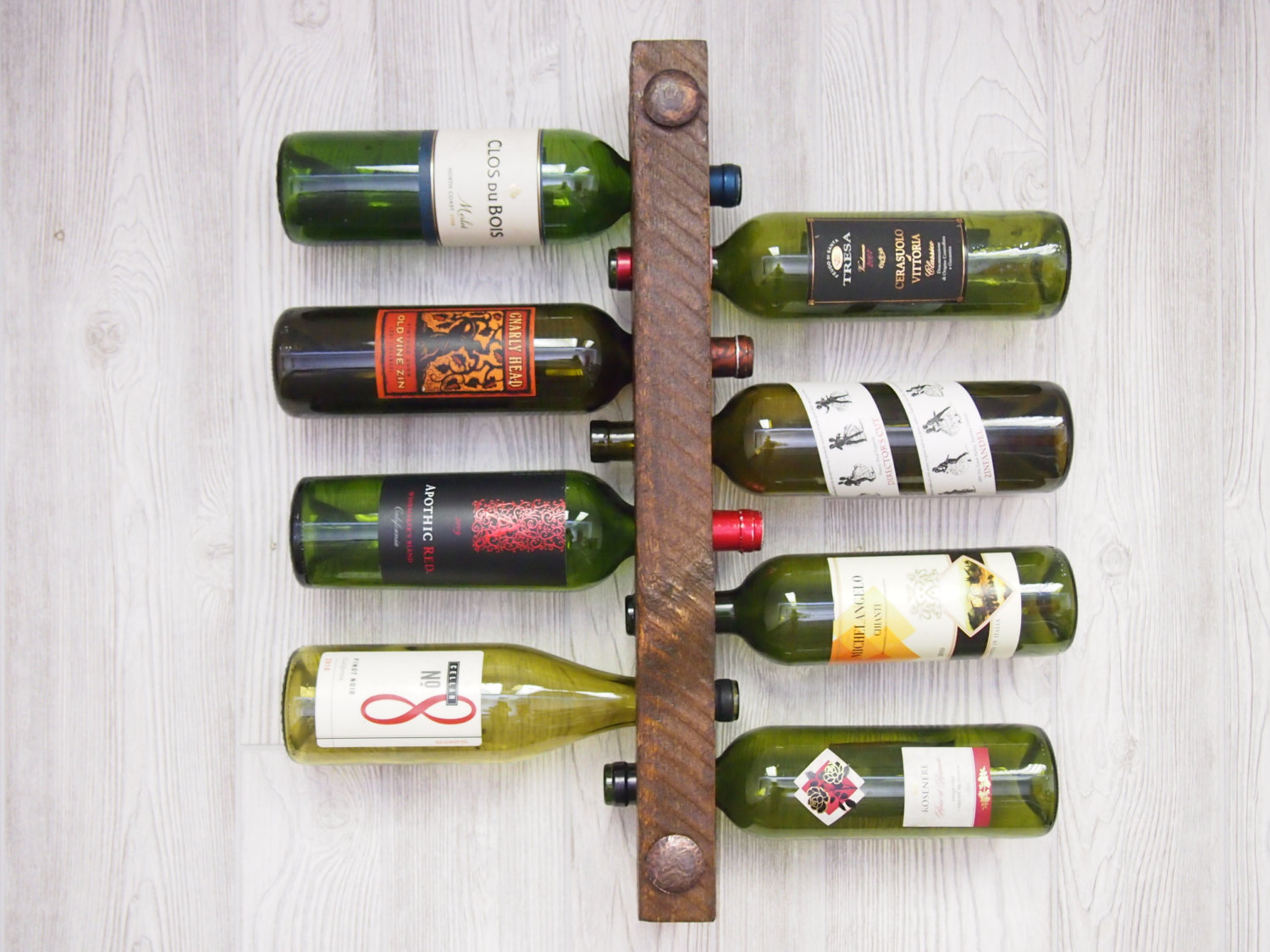 Wooden Wine Racks 8 Bottle High Capacity