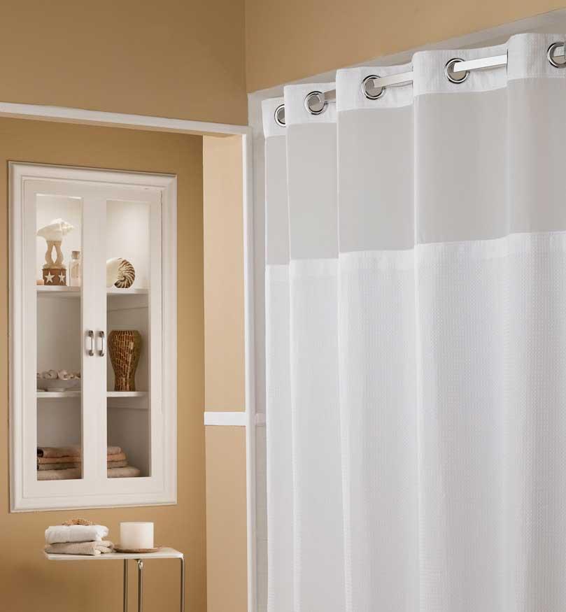 Hookless Shower Curtain - Elegant Bathroom Furniture » InOutInterior