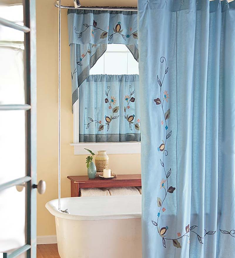 10 Modern Bathroom Window Curtains