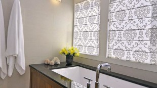 Modern Bathroom Window Curtains