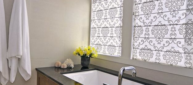 Attrayant Modern Bathroom Window Curtains