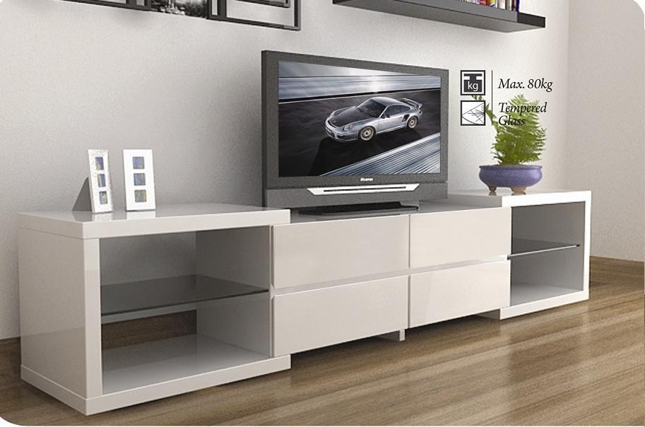 Modern White TV STands Lacquer