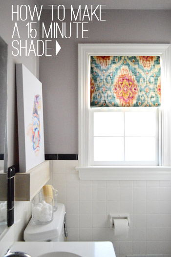 DIY Bathroom Window Curtains